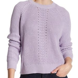 Topshop Ribbed Boxy Sweater NWT Size 8 Lilac